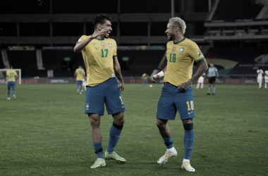 Lucas Paquetá e Neymar, destaques do Brasil na Copa América 2021 (CBF / Divulgação)
