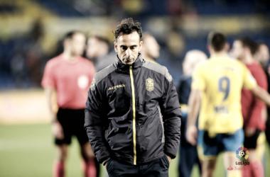 Paquito Ortiz en el encuentro que disputó la UD Las Palmas frente al RCD Espanyol - Foto vía: laliga.es