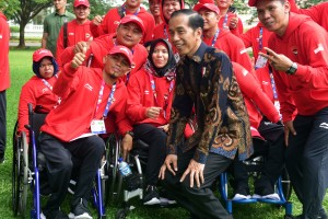 Presiden Jokowi Lepas Kontingen Indonesia Asian Para Games 2018