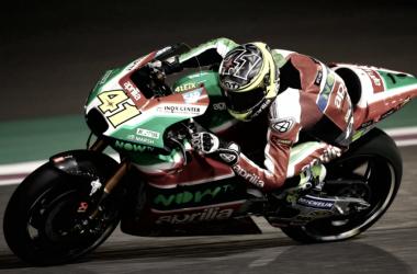 Aleix Espargaró se quedó sin gasolina en el GP de Qatar