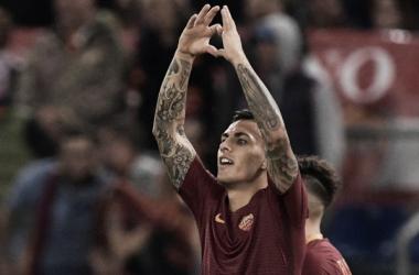 Leandro Paredes en un partido de esta temporada / Foto: AS Roma