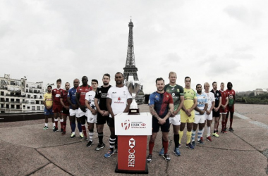 The 16 captains meet up ahead of the Paris Sevens (image via: worldrugby.org)