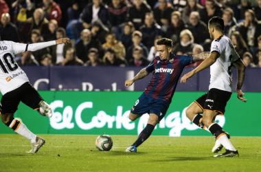 Derbi de la temporada pasada en Orriols. Foto: Levante UD