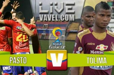 Resultado Final: Pasto - Tolima para la Liga Águila 2016 (1-1)