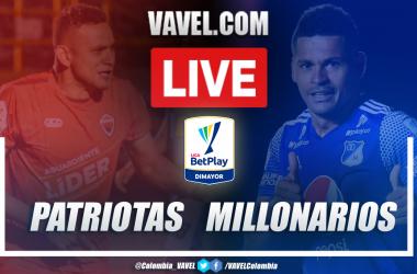 Resumen Patriotas vs Millonarios Liguilla BetPlay (2-3)