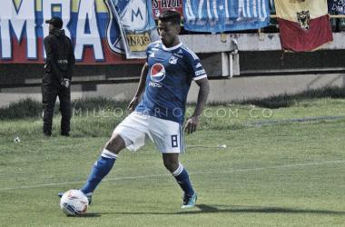 César Carrillo, autor del primer gol. Foto: Millonarios FC.