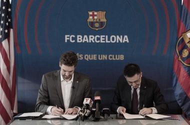 """Pau Gasol: """"Estamos muy ilusionados de iniciar este proyecto con el Barça"""""""