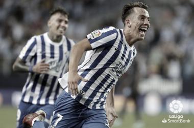 Paulino en la celebración del primer gol. / Foto: LaLiga