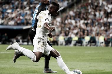 Vinícius Jr jugó unos minutos ante el Brujas en el partido de ida / Foto: realmadrid