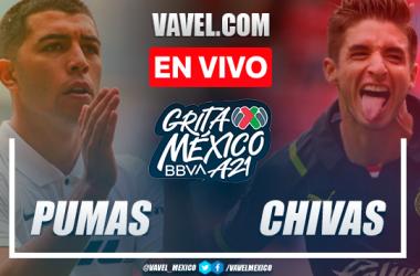 Resumen: Pumas 0-0 Chivas en Liga MX 2021