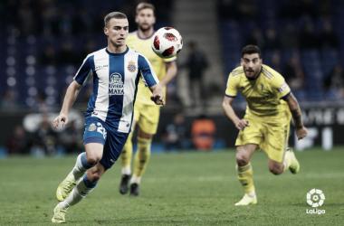 Pedrosa, en un lance del partido de Copa contra el Cádiz / Foto: LaLiga.