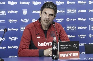 Pellegrino durante la rueda de prensa de este viernes | Foto: CD Leganés