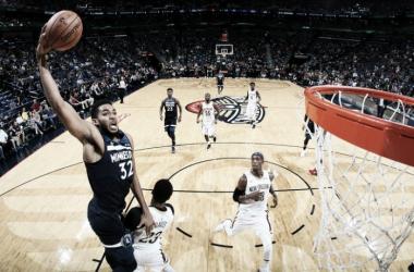 Timberwolves venció a Pelicans