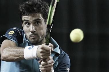 Guido Pella en su derrota ante Querrey. Foto: ATP.