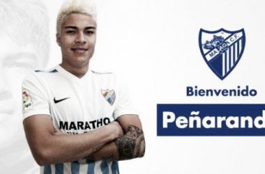 Peñaranda es nuevo jugador del Málaga CF / Foto: Prensa Málaga CF