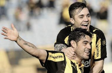 Diogo (arriba) y Aguiar (abajo), dos de los goleadores de hoy. Foto: Tenfield