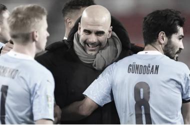 Pep Guardiola em Borussia Dortmund 1 a 2 Manchester City (UEFA / Divulgação)