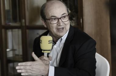 José Castro durante la entrevista / sevillafc.es