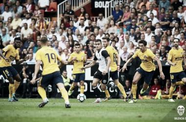 El debut de Andreas Pereira en Mestalla