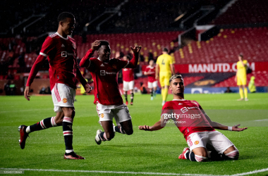 <div>Manchester United v Brentford - Pre-season Friendly</div><div>MANCHESTER, ENGLAND - JULY 28: Andreas Pereira of Manchester United celebrates scoring a goal to make the score 2-1 during the pre-season friendly match between Manchester United and Brentford at Old Trafford on July 28, 2021 in Manchester, England. (Photo by Ash Donelon/Manchester United via Getty Images)</div>