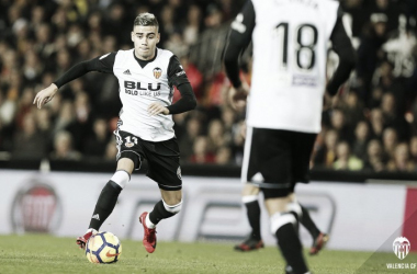 Pereira en una contra de la primera parte I Foto: Valencia CF