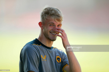 Perry, 20, made his competitive debut in a EFL Cup victory over Reading in 2019 (Photo by Malcolm Couzens/Getty Images).