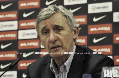 Svetislav Pesic, en rueda de prensa. FOTO: Eduardo Ariño