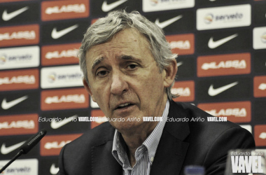Pesic atendió a los medios después de la victoria contra los fuenlabreños | Fotografía: Eduardo Ariño (VAVEL.com)
