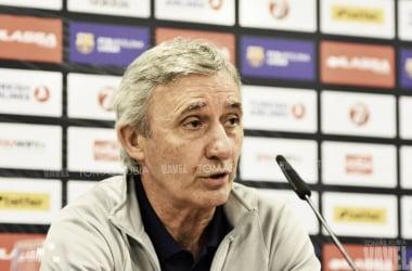 Svetislav Pesic ha atendido a los medios después del encuentro | Fotografía: Tomás Rubia: (VAVEL.com)
