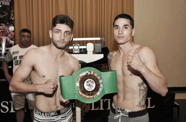 Pezzelato y Junco, otro de los combates del fin de semana (Foto: Ramón Cairo   O.R. Promotions)
