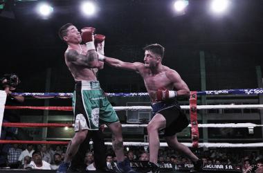 Pezzelato y una de las mejores actuaciones del fin de semana en el boxeo nacional (Foto: Ramón Cairo   O.R. Promotions)