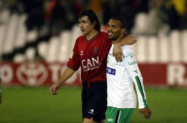 Pablo García en su etapa con Osasuna. Fuente: Diario de Navarra