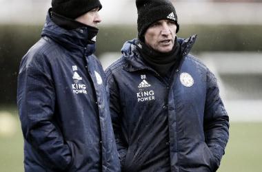 Entrenamiento previo del Leicester City. / Fuente: @LCFC
