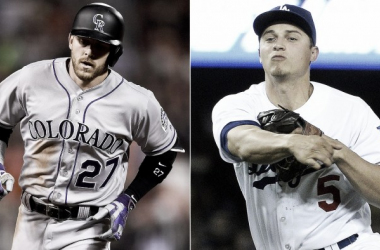 Trevor Story (left) and Corey Seager (right) have shown the baseball world that shortstops are still able to launch home runs just like everyone else | USA TODAY Sports
