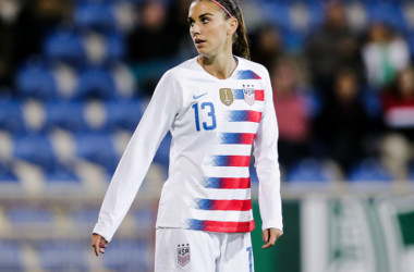 Alex Morgan and the USWNT will look to bounce back after their loss against France on Saturday. (Photo by Erwin Spek/Soccrates/Getty Images)