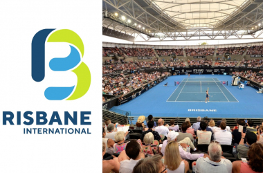 This year marks the 12th edition of the Brisbane International, and the first as a solely women's event. Photos: Left (Brisbane International) and right (Bradley Kanaris/Getty Images).