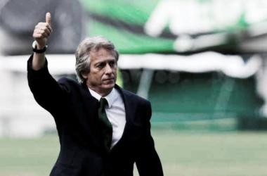 Jesus abordou a situação actual do futebol leonino (foto: rtp.pt)