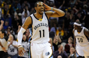 """Michael """"Mike"""" Conley Jr. knocks down a shot from downtownVia:Justin Ford / USA TODAY Sports"""