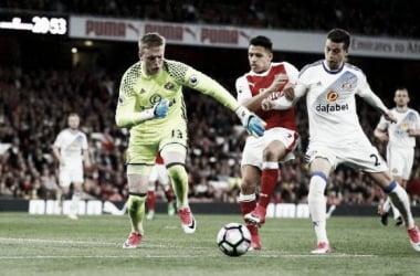 Jordan Pickford y Alexis Sánchez, el gran duelo de la noche | Foto: Premier League