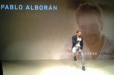 Pablo Alborán en la rueda de prensa de presentación de 'Terral'