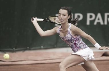 Tatiana Pieri in action in Paris. Photo: Susan Mullane/ITF