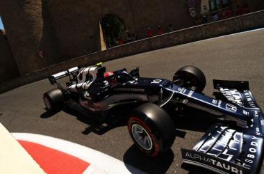 Pierre Gasly en el circuito de Bakú. Vía: Pinterest