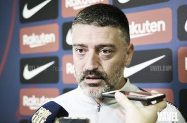 García Pimienta atendió a los medios de comunicación | Foto: Noelia Déniz (Vavel)