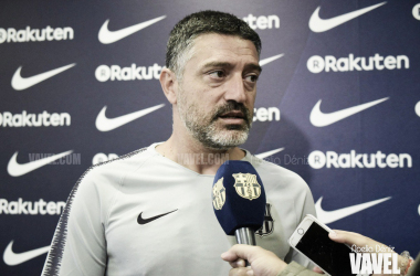 """García Pimienta: """"Esperamos mantener en el Johan Cruyff nuestra buena racha de resultados"""""""