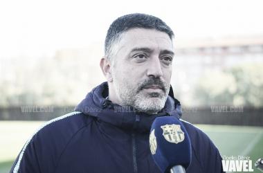 Imagen de Javier García Pimienta, entrenador del FC Barcelona B. FOTO: Noelia Déniz.