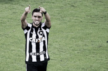 Decisivo! Pimpão é o artilheiro do Botafogo na Libertadores (Foto: Satiro Sodré/ SSPress/ Botafogo)