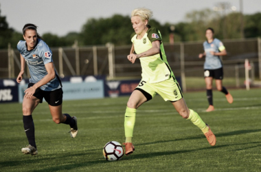 Megan Rapinoe scored her fourth goal of the season as she lifted the Reign to a 1-0 victory over Sky Blue FC. | Photo: Horward Smith - isiphotos.com