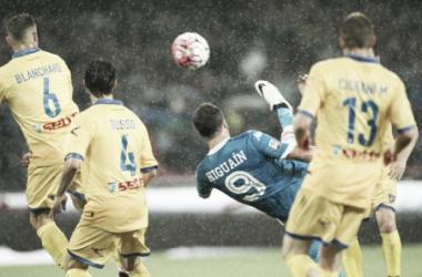 La pirueta de Pipita, su gol número 36. Récord. (Foto: Globedia).