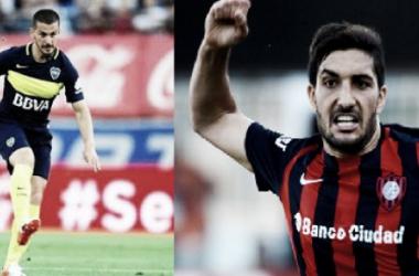 Benedetto y blandi, dos goleadores acostumbrados a gritar seguido en sus clubes. Fotos: El Blog del hincha de Boca y Azul y Oro