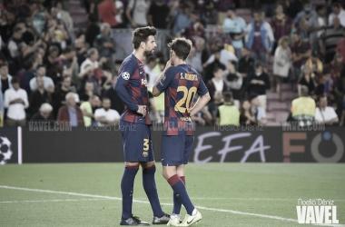 Piqué y Sergi Roberto, bajas ante el Valladolid | Foto: Noelia Déniz - VAVEL